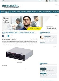 Amazona.de Test: Steinberg UR12, USB-Audiointerface