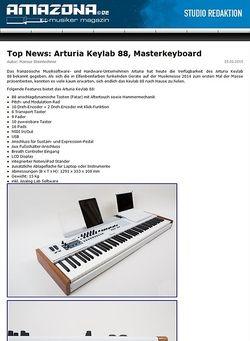 Amazona.de Top News: Arturia Keylab 88, Masterkeyboard