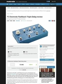 MusicRadar.com TC Electronic Flashback Triple Delay