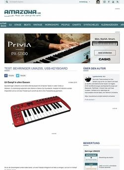 Amazona.de Test: Behringer UMA25S, USB-Keyboard