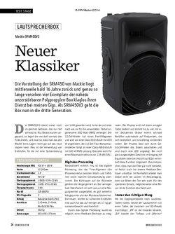 Soundcheck Mackie SRM450V3