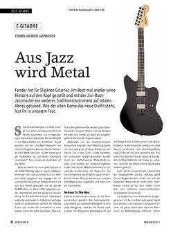 Soundcheck Fender Jim Root Jazzmaster