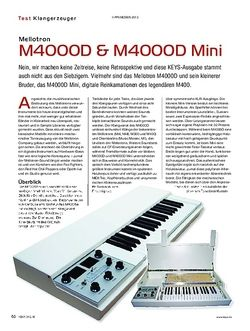 KEYS Mellotron M4000D & M4000D Mini