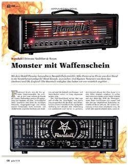 Guitar Randall Ultimate Nullifier & Satan