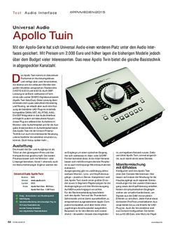 KEYS Universal Audio Apollo Twin