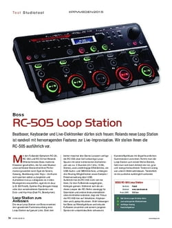 KEYS Boss RC-505 Loop Station