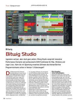 KEYS Bitwig Studio