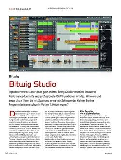 KEYS Bitwig Studio