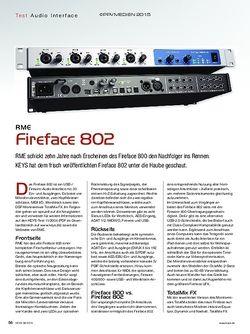 KEYS RME Fireface 802