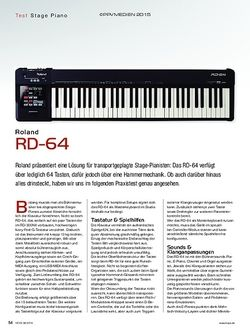 KEYS Roland RD-64