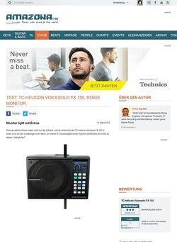 Amazona.de Test: TC-Helicon Voicesolo FX 150, Stage Monitor