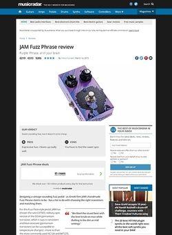 MusicRadar.com JAM Fuzz Phrase