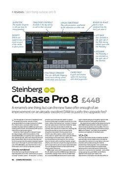 Computer Music Steinberg Cubase Pro 8