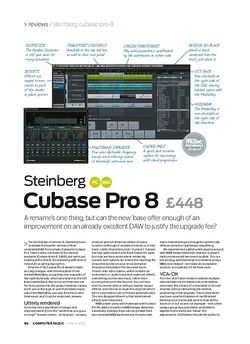 Computer Music Steinberg Cubase Pro 8