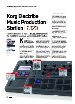 Future Music Korg Electribe Music Production Station