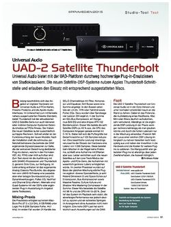 KEYS Universal Audio UAD-2 Satellite Thunderbolt