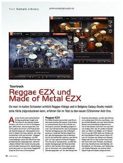 KEYS Toontrack Reggae und Made of Metal Expansions