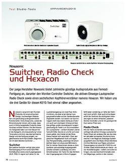 KEYS Nowsonic Switcher, Radio Check und Hexacon