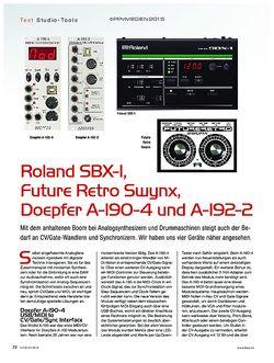 KEYS Roland SBX-1, Doepfer A-190-4 und A-192-2