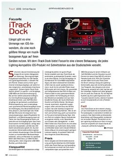 KEYS Focusrite iTrack Dock