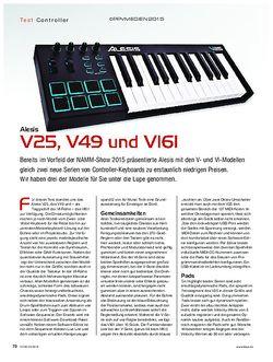 KEYS Alesis V25, V49 und VI61
