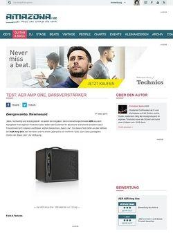 Amazona.de Test: AER Amp One, Bassverstärker