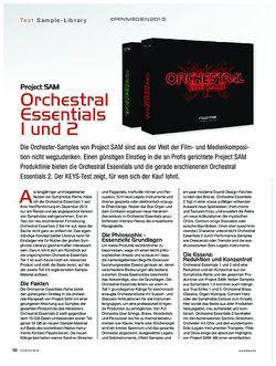 KEYS Project SAM Orchestral Essentials 1 und 2