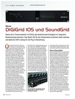 KEYS Waves DiGiGrid IOS und Soundgrid