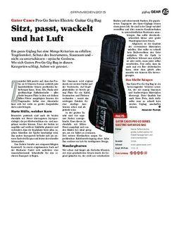 Guitar Gatos Cases Pro-Go Series Electric Guitar Gig Bag