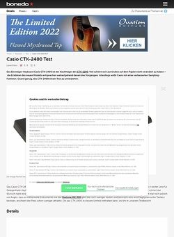 Bonedo.de Casio CTK-2400