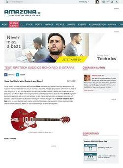 Amazona.de Test: Gretsch G5623 CB Bono Red, E-Gitarre