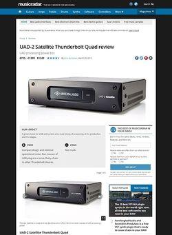 MusicRadar.com UAD-2 Satellite Thunderbolt Quad