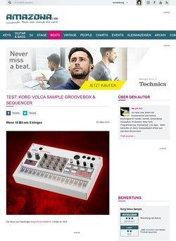 Amazona.de Test: Korg Volca Sample, Groovebox