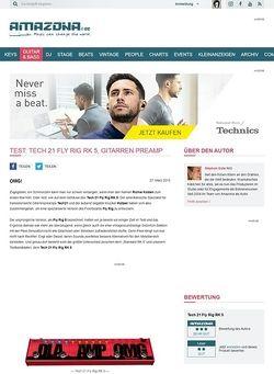 Amazona.de Test: Tech 21 Fly Rig RK 5, Gitarren Preamp