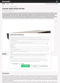 Bonedo.de Cymatic Audio uTrack 24