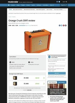 MusicRadar.com Orange Crush 35RT