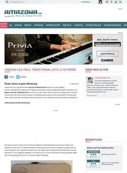 Amazona.de Gibson Les Paul Traditional 2015, E-Gitarre