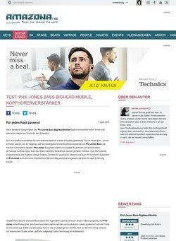 Amazona.de Test: Phil Jones Bass BigHead Mobile, Kopfhörerverstärker