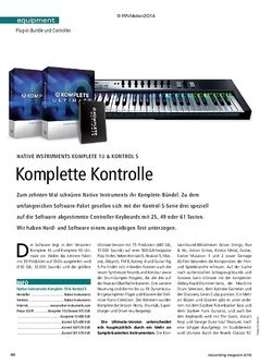 Recording Magazin Native Instruments Komplete 10 & Kontrol S