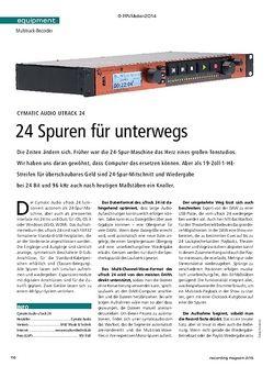 Recording Magazin Cymatic Audio uTrack 24