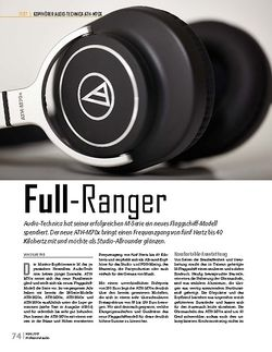 Professional Audio Audio-Technica ATH-M70x