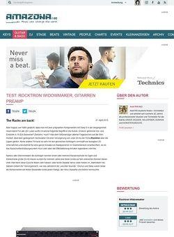 Amazona.de Test: Rocktron Widowmaker, Gitarren Preamp