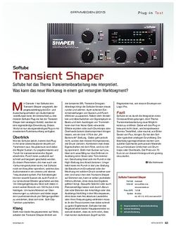 KEYS Softube Transient Shaper