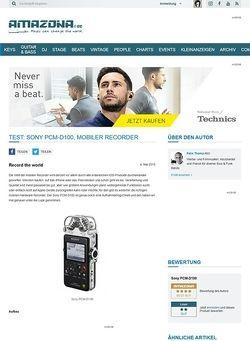 Amazona.de Test: Sony PCM-D100, Mobiler Recorder
