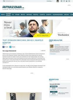 Amazona.de Test: Dynaudio BM12 MKIII, BM14S II, Nahfeld Monitor