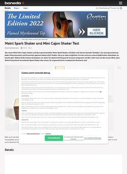 Bonedo.de Meinl Spark Shaker und Mini Cajon Shaker