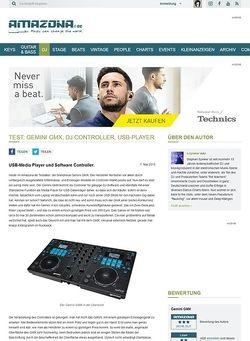 Amazona.de Test: Gemini GMX, DJ Controller, USB-Player