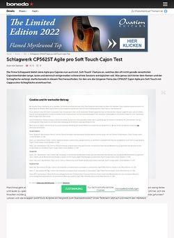 Bonedo.de Schlagwerk CP562ST Agile pro Soft Touch Cajon