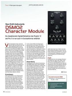 KEYS Dave Smith Instruments DSM02 Charakter Module