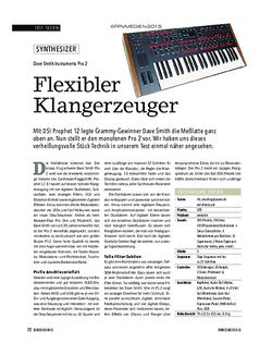 Soundcheck Dave Smith Instruments Pro 2